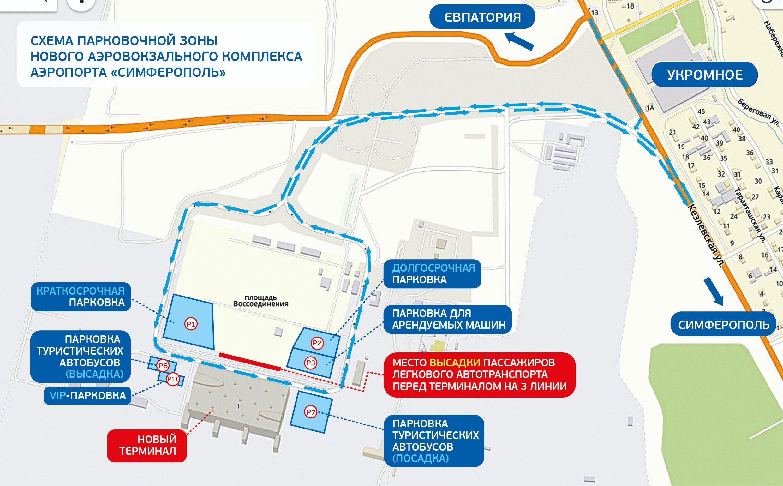 Схема парковка аэропорт Симферополь